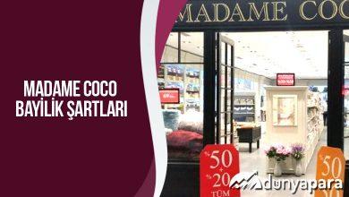 Madame Coco Bayilik Şartları