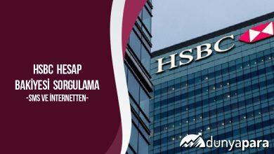 HSBC Hesap Bakiyesi Sorgulama (Sms ve İnternetten)