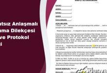 Avukatsız Anlaşmalı Boşanma Dilekçesi 2020 ve Protokol Örneği