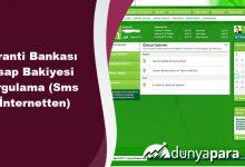 Garanti Bankası Hesap Bakiyesi Sorgulama (Sms ve İnternetten)