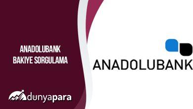 Anadolubank Bakiye Sorgulama