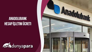 Anadolubank Hesap İşletim Ücreti