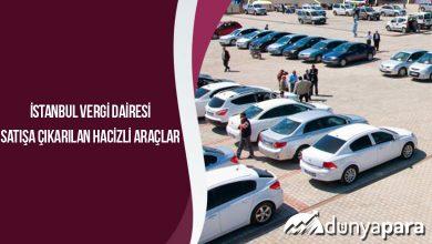 İstanbul Vergi Dairesi Satışa Çıkarılan Hacizli Araçlar