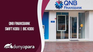 QNB Finansbank Swift Kodu | BIC Kodu