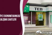 Türkiye Ekonomi Bankası Çalışma Saatleri