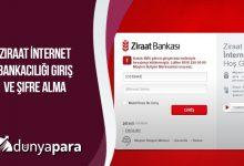 Ziraat İnternet Bankacılığı Giriş ve Şifre Alma