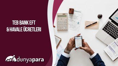 Türkiye Ekonomi Bankası (TEB) EFT ve Havale Ücretleri