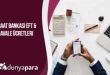 Ziraat Bankası EFT ve Havale Ücretleri