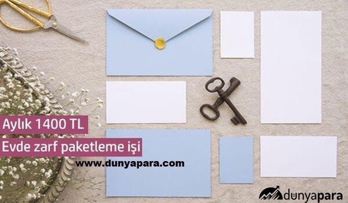 Evde Zarf Paketleme İşi